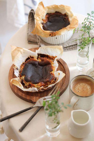 ブルーベリーチーズケーキ。バスク風。